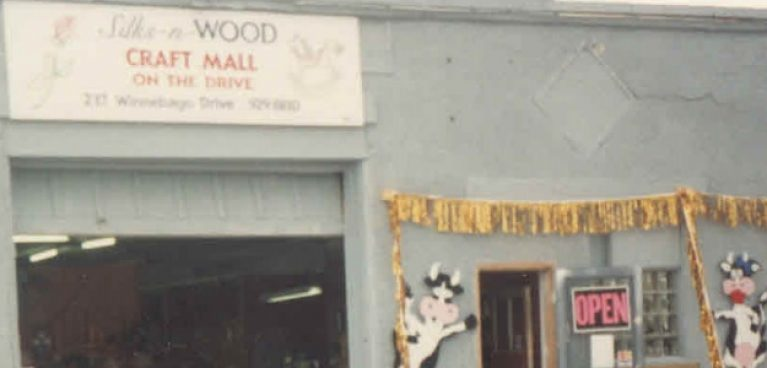 Close up of store front